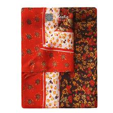 Шелковый легкий и воздушный шарфик с узорным принтом №9
