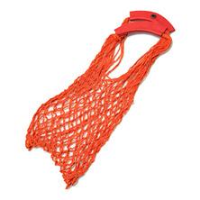 Авоська на плечо с кожанными ручками (Симачев), оранжевая