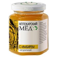 Мед аптекарский с ИМБИРЕМ натуральный, 250 г