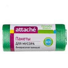 Пакеты для мусора биоразлагаемые Attache, 60 л (30 шт)