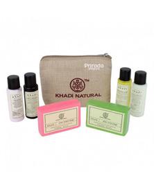 Дорожный набор в холщовом мешочке, Travel Kit Khadi