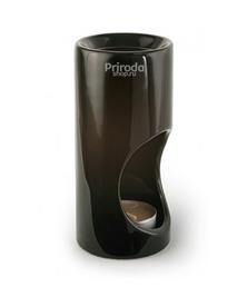 Аромалампа керамическая гладкая, в подарочной коробке, черная