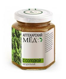 Мед аптекарский с СОЛОДКОЙ натуральный, 250 г