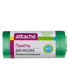 Пакеты для мусора биоразлагаемые Attache, 30 л (30 шт)