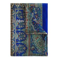 Шелковый легкий и воздушный платок с узорным принтом №5