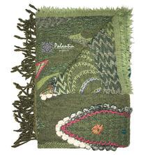 Палантин из вареной шерсти с узором ручной работы №3