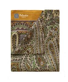 Шелковый легкий и воздушный платок с узорным принтом №7